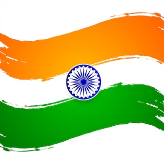 Modern indian flag theme decorative background
