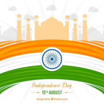 Modern indian independence day background
