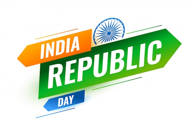 Modern indian republic day creative design