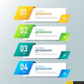 Современная инфографика 4 варианта дизайна.