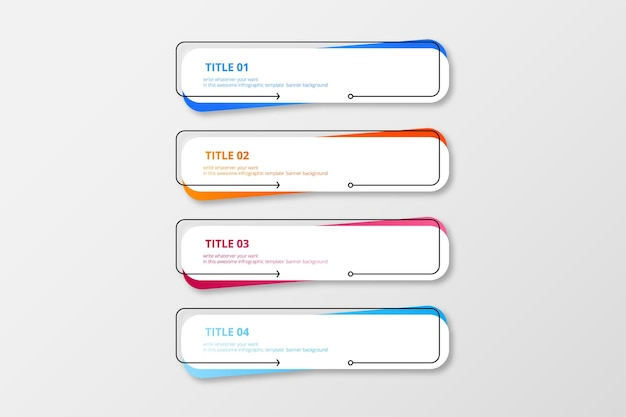 Modern infographic banner colorful pack