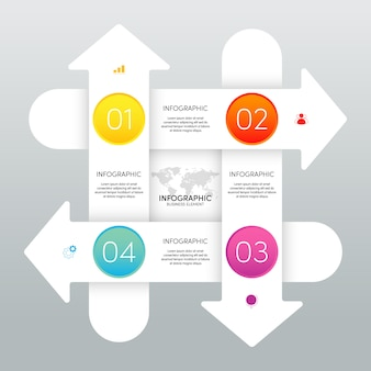 Modern infographic business template and data visualization with 4 options.