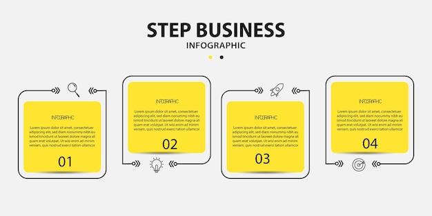 現代のインフォグラフィックビジネステンプレートデザイン