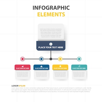Modern infographic business template
