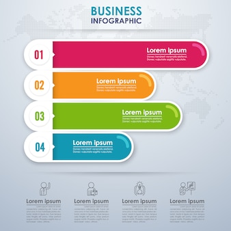 Modern infographic business with four options