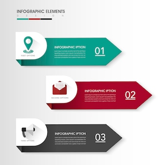 Modern infographic design with colorful label elements