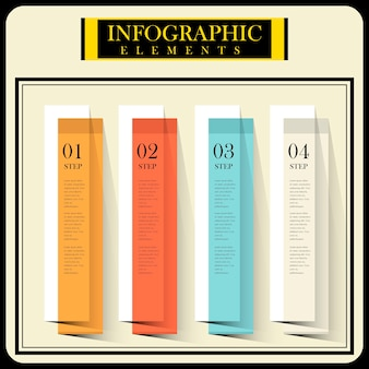 Modern infographic design with flat bar chart elements
