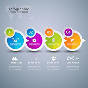 Modern infographic element banner.
