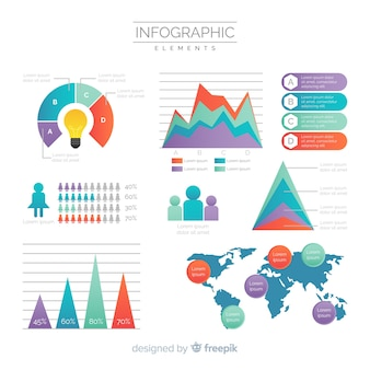 Коллекция современных инфографических элементов с градиентным стилем