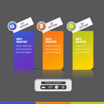 Modern infographic elements template