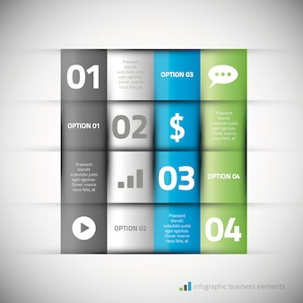 Modern infographic elements with icons vector illustration
