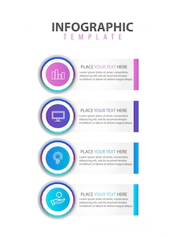 Modern infographic flat vector