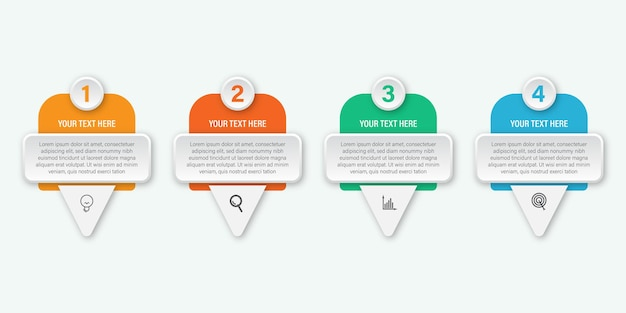 Modern infographic label design for business, infographics concept with icon