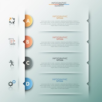 Modern infographic option banner with paper circles