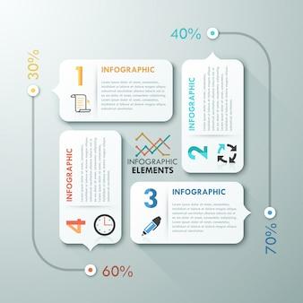 Современный инфографический вариант шаблона