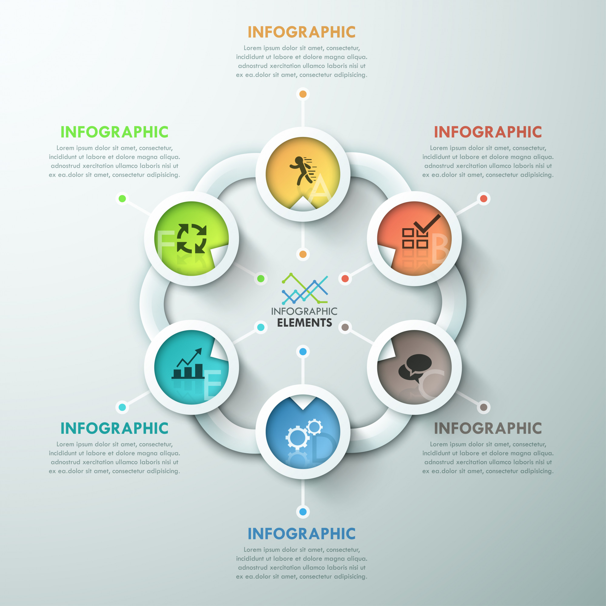 Modern infographic paper cycle