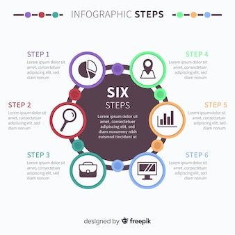 Modern infographic steps concept