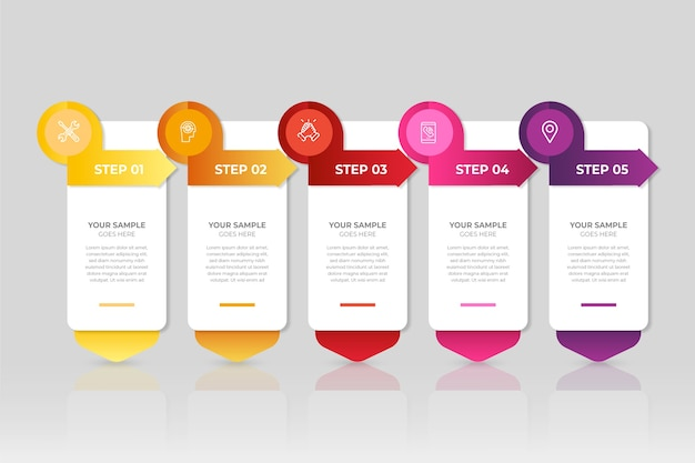 Modern infographic steps