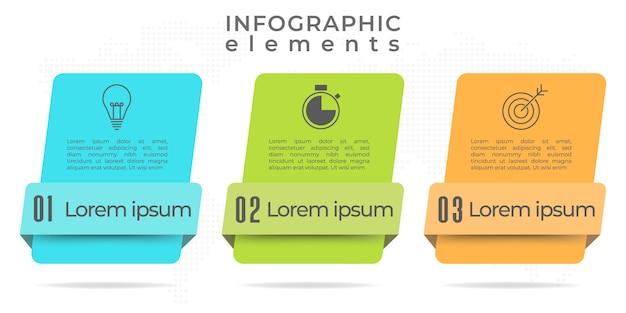 Современный инфографический шаблон 3 варианта.