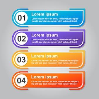 モダンなインフォグラフィックテンプレートの背景デザインeps10