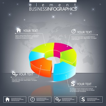 Modern  infographic template. can be used for workflow layout, diagram, chart, number options, web design.