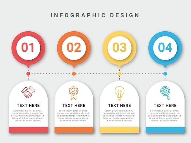 Modern infographic template design