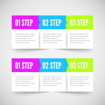 Modern infographic template. flat styled.