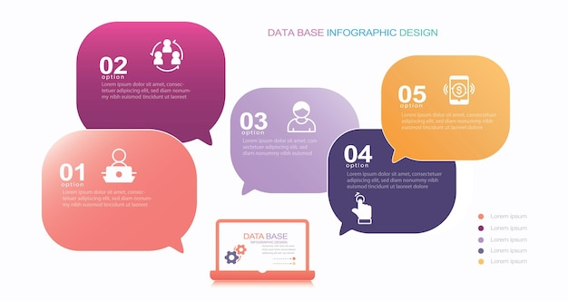 Modern infographic template stock illustration infographic speech bubble number 5 weather
