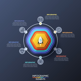 Modern infographic template with circular elements