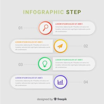 Modello di infographic moderno con stile colorato