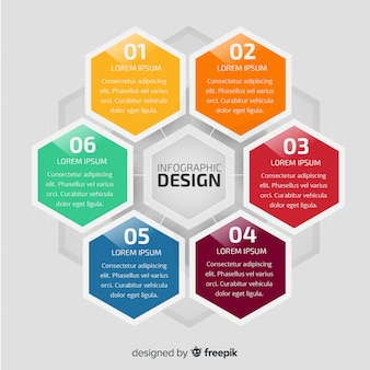 Modern infographic template with colorful style