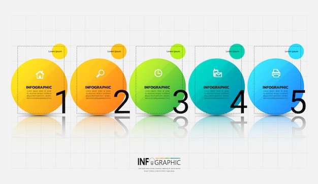 Modern infographic template with outline concept.