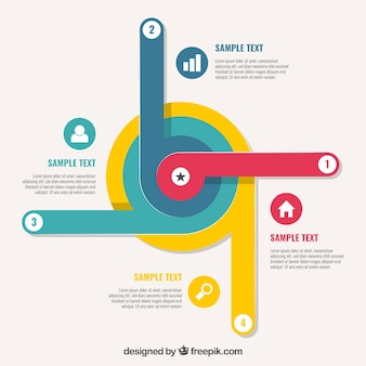 Modern infographic template with rounded shape