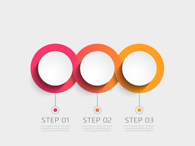 Modern infographic template with steps
