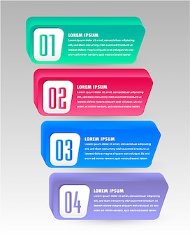 Modern infographic template with text box