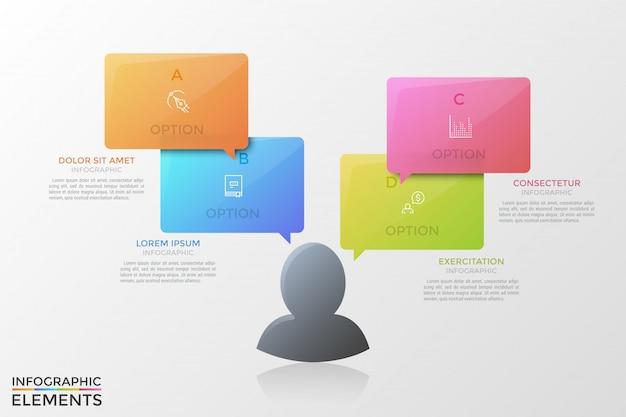 현대 infographic 템플릿