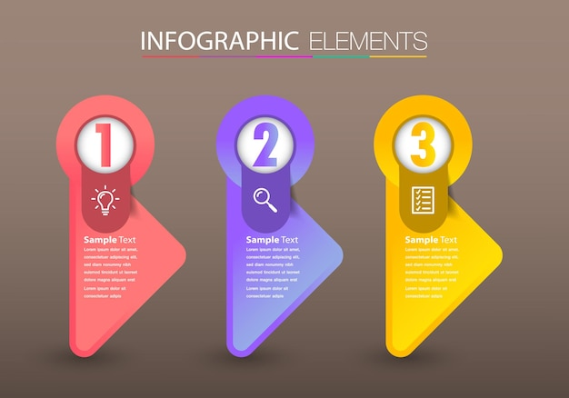 Modern infographic text box template infographics banner