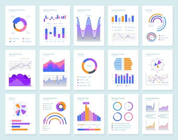 Современные инфографики векторные шаблоны для бизнес-анализа