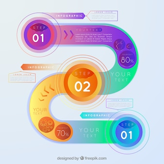 Infografica moderna con forme colorate