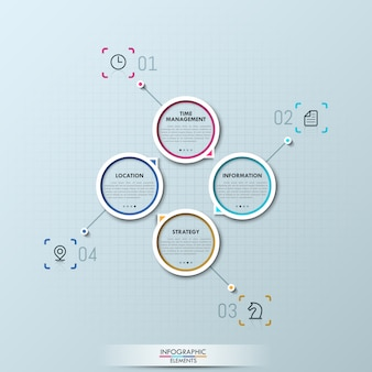 Modern infographic with four circular elements