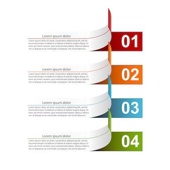 Современная инфографика с четырьмя шагами