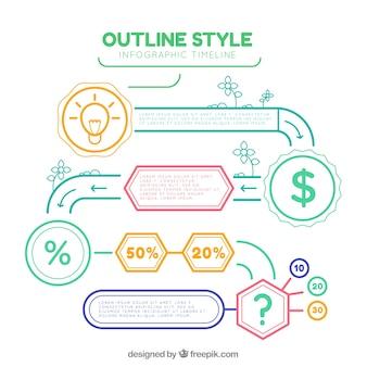 재미있는 스타일로 현대 infographic