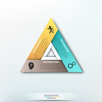 Modern infographics cycle paper template