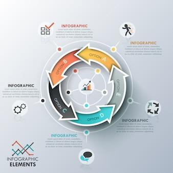 Современная инфографика цикла шаблонов