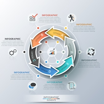 Modern infographics cycle template