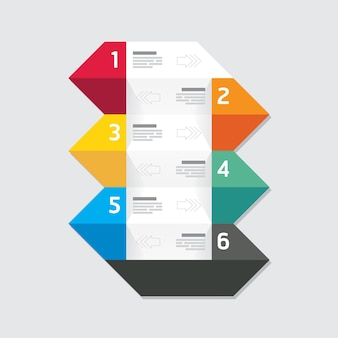 Modern infographics design options geometric banner. vector illustration. can be used for workflow layout, diagram, number options, graphic or website layout vector