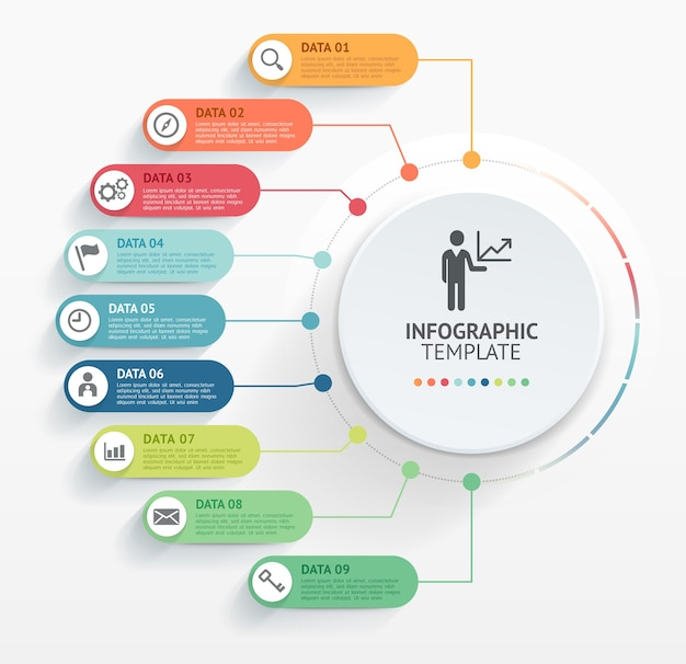 Modern infographics design template