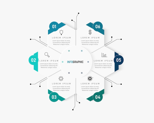 Modern infographics number options template. illustration. can be used for workflow layout, diagram, business step options, banner, web design.