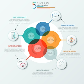 Modern infographics options banner area chart