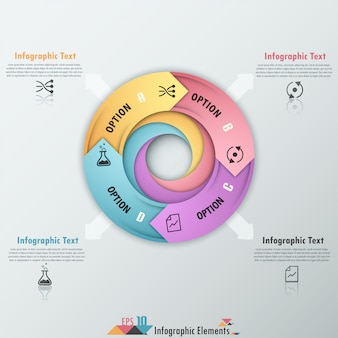 Современная инфографика варианты баннеров со стрелками